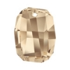 Swarovski Pendant 6685 Graphic 28mm Golden Shadow Crystal